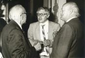 Jubileusz prof. J. Hano 1986 r. (w środku: J. Vetulani) / Professor J. Hano Jubilee, 1986 (in the center: J. Vetulani)